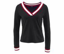 V-Shirt rot / schwarz / weiß