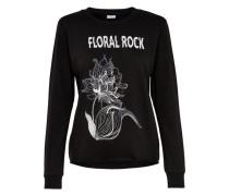 Bedrucktes Sweatshirt schwarz