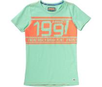 Baby T-Shirt für Jungen hellgrün / hellorange