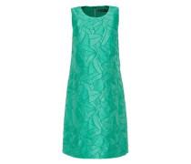 A-Linien-Kleid aus Struktur-Jacquard jade