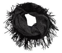 Schal mit Fransen anthrazit / schwarz