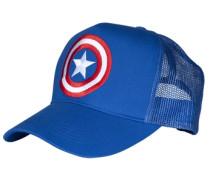 Trucker Cap - Captain America – Logo blau