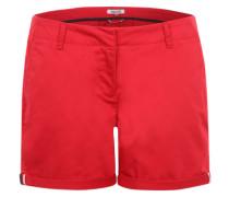 Klassische Chino Shorts rot