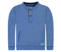 Sweatshirt mit Knopfleiste himmelblau