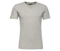 T-Shirt mit V-Ausschnitt 'Green' hellgrau
