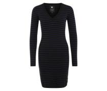 Gestreiftes Kleid 'Imon' schwarz