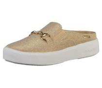 Slipper beige / gold