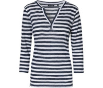 3/4-Arm-Shirt blau / dunkelblau / weiß