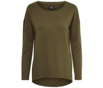Detail-Sweatshirt grün