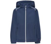 Softshell-Jacke Denimfarbige Alfa- blau / blue denim / weiß