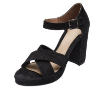 Wildleder-Sandalen schwarz