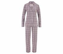 Karierter Pyjama in klassischem Schnitt mischfarben