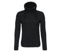 Kapuzenpullover 'Stealth Hood' grau / schwarz