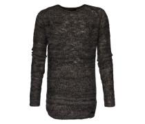 Pullover in Melange-Design 'Rag' schwarz