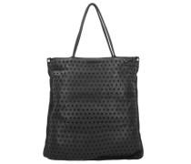 Shopper Tasche Leder 40 cm schwarz