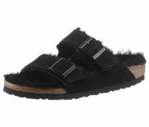 Pantolette 'arizona' braunmeliert / schwarz