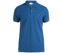 'Rubi Slim Pikee' Poloshirt blau