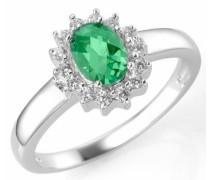 Silberring grün / silber