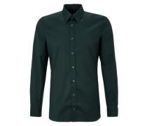 Slim: Langärmliges Stretch-Hemd grün