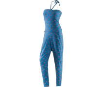 Jumpsuit blau / hellrot / weiß
