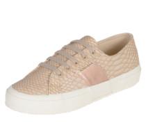 Sneakers 'Pusnakew' mit Animal-Optik rosegold / puder