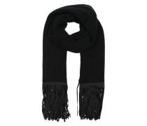 Schal mit Fransen schwarz