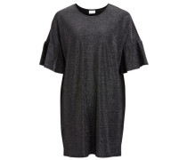 Kleid Rüschenärmel schwarz