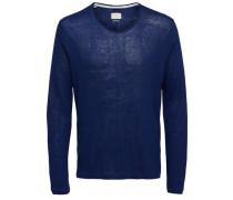T-Shirt Rundhalsausschnitt blau