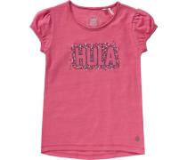 T-Shirt für Mädchen grau / orange / pink / rot