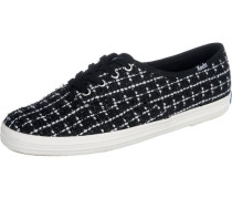 Sneakers 'champion Metallic Boucle Textile' schwarz / weiß