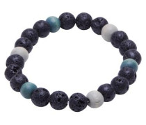 Armband Holz himmelblau / schwarz / weiß