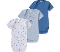Bodys 3er-Pack für Jungen blau / hellblau / rot / weiß