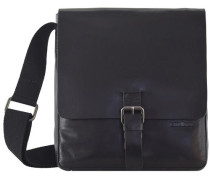 Scott Umhängetasche Leder 27 cm Laptopfach schwarz