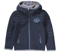 Softshelljacke für Jungen blau / dunkelblau / grau / weiß