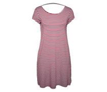 Minikleid aus Jersey 'Stripe Tape' rot / weiß