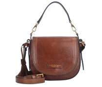 Pearldistrict Handtasche Leder 20 cm braun