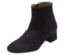 Veloursleder-Stiefel schwarz