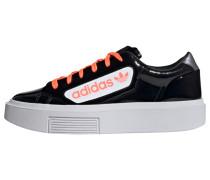 Sneaker schwarz / koralle / weiß
