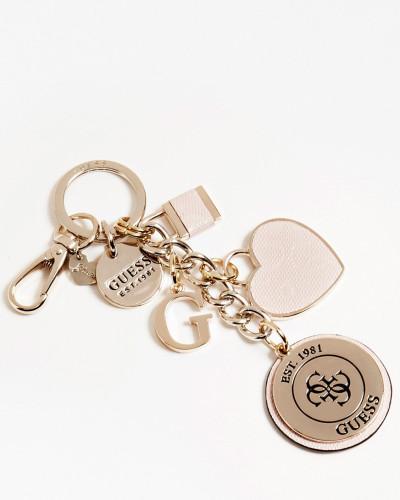 Schlüsselanhäger beige / gold