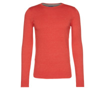 Strickpullover 'basic crew-neck sweater' rot / hellrot