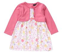 Kleid pastellgelb / pink / weiß