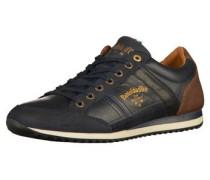 Sneaker dunkelblau / braun / gold / weiß