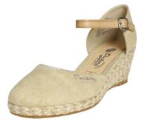Sandale mit Keilabsatz beige