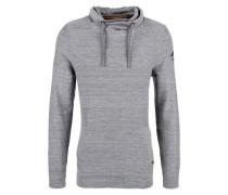 Turtleneck-Pullover mit Tunnelzug grau