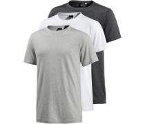 T-Shirt Herren grau / schwarz / weiß