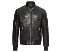 Jacke 'teddy-Style Leather Jacket With A ZIP Around THE Collar'