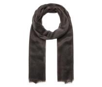 Woll-Schal mit Metallic-Look schwarz
