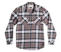 Langarm-Hemd »Fitzthrower Flannel« grau