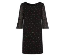 Kleid mit Allover-Print schwarz