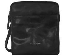 Sfoderata Luxe Donna Umhängetasche Leder 23 cm schwarz